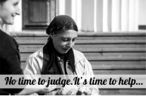 No time to judge. It's time to help…